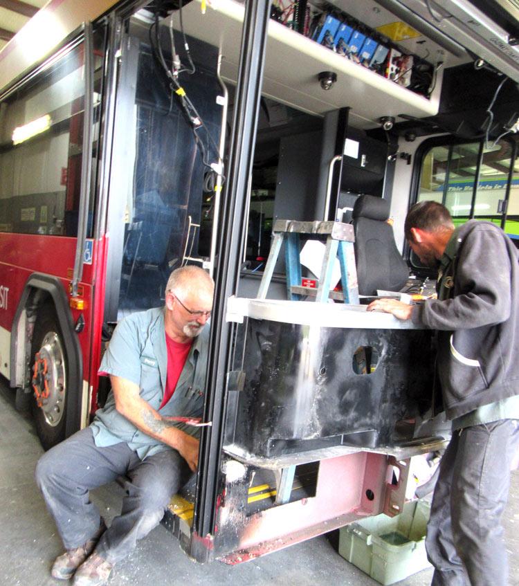 bus collision damage repair